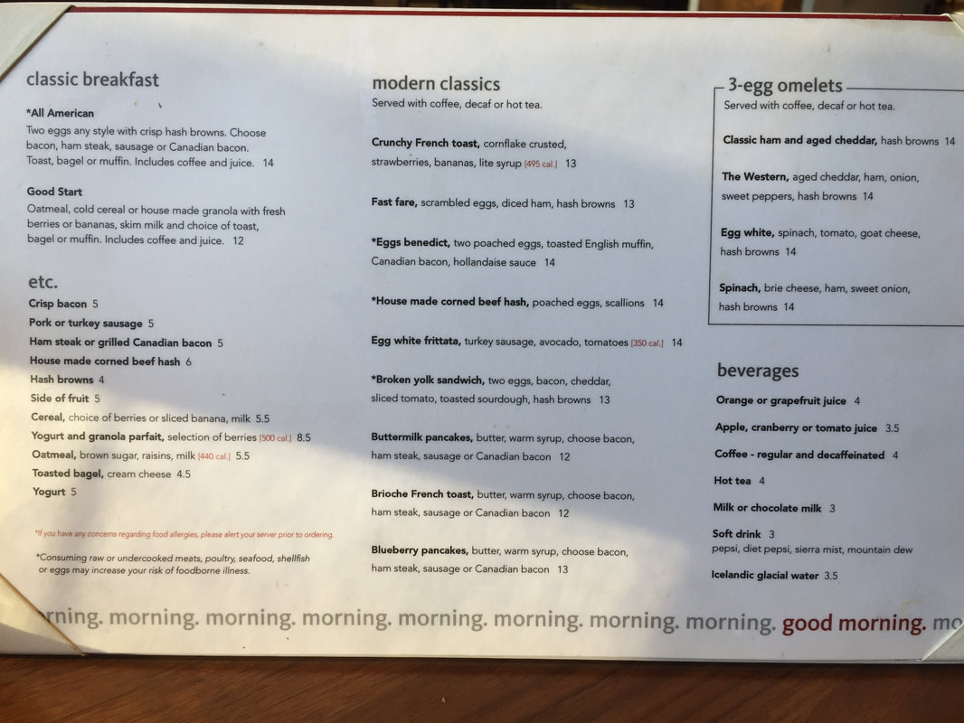 Richmond Marriott Breakfast Menu
