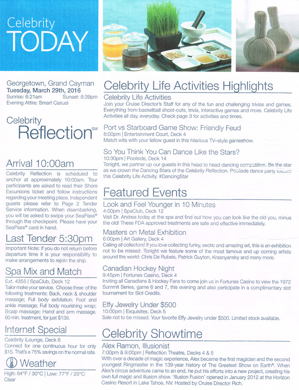 Celebrity Today Caribbean Reflection