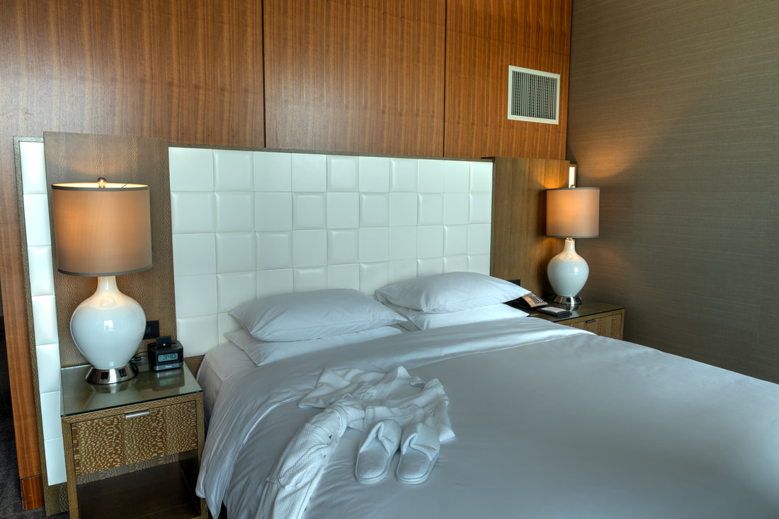 Luxurious bedroom in Regency Suite at Hyatt Regency Tysons Corner Center