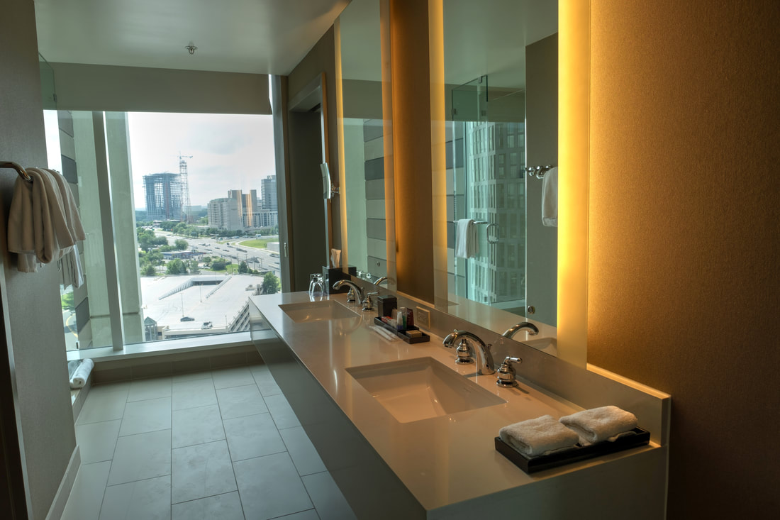 Huge bathroom in Regency Suite at Hyatt Regency Tysons Corner Center