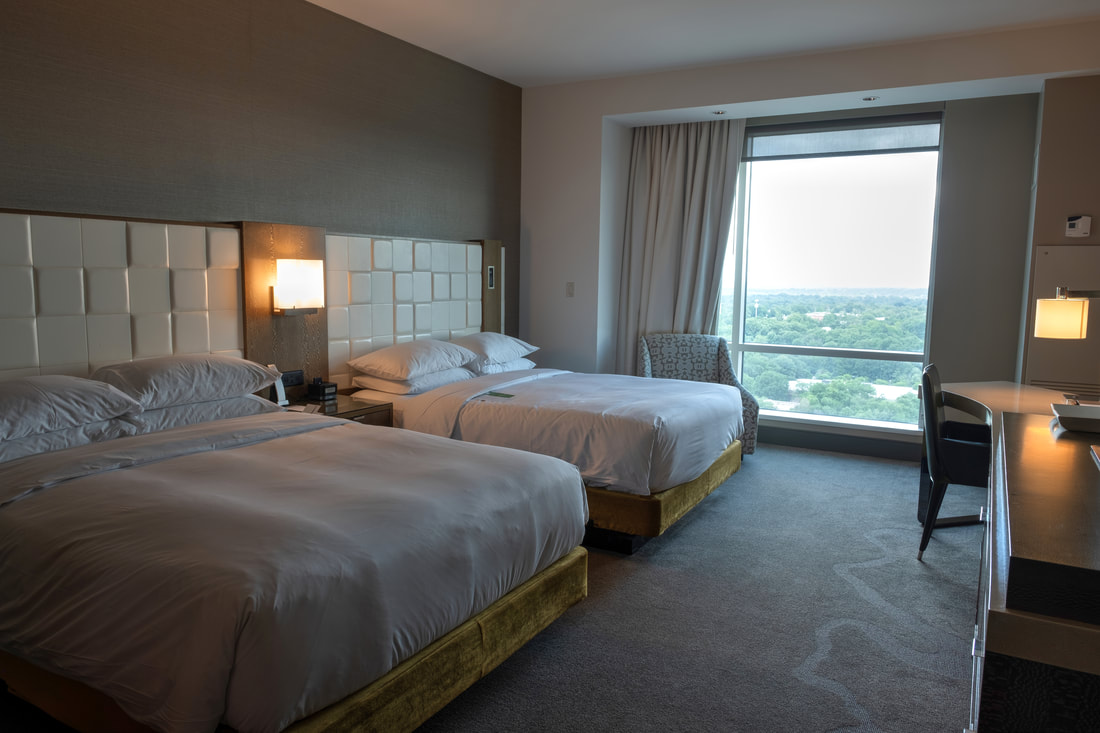 Guestroom with two queen beds at Hyatt Regency Tysons Corner Center