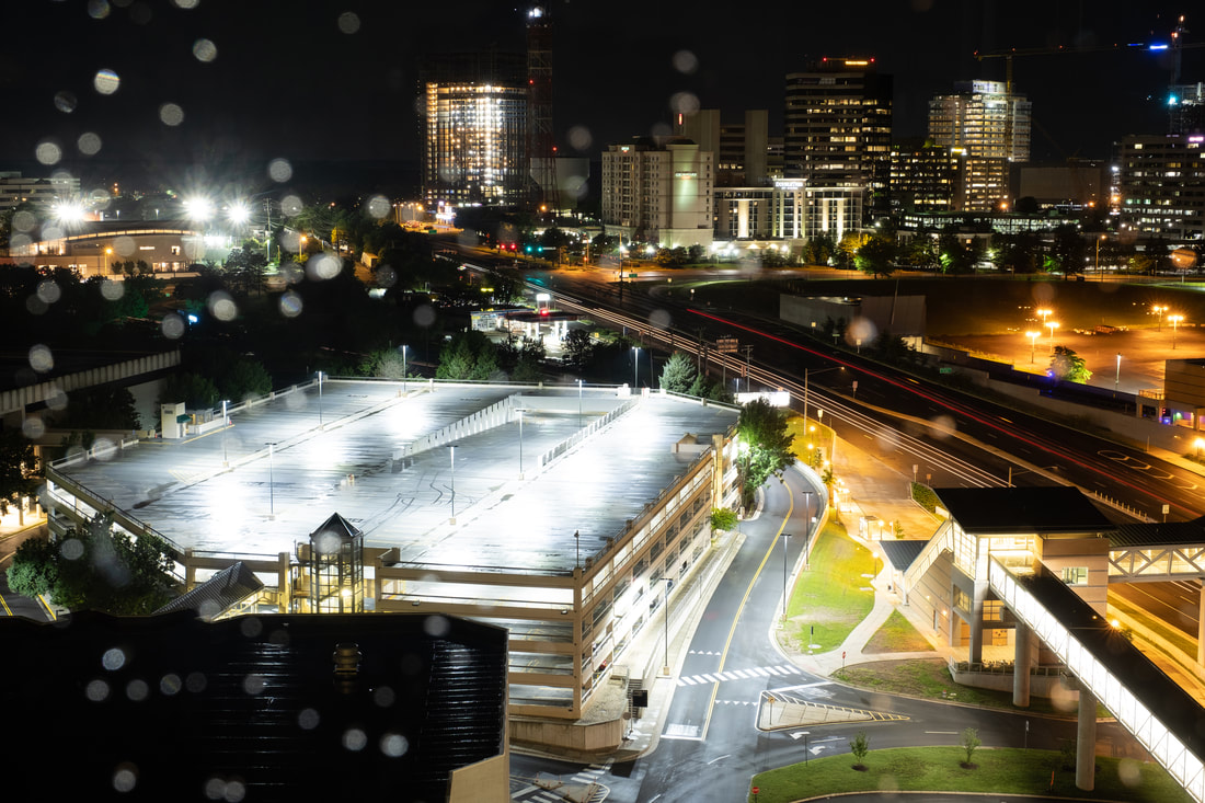 View of Tysons Corner, Virginia at night