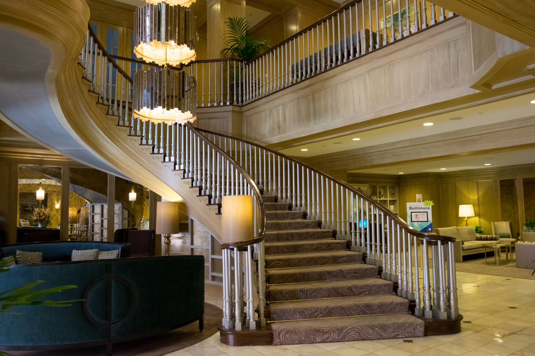 Harbor Court Hotel Staircase