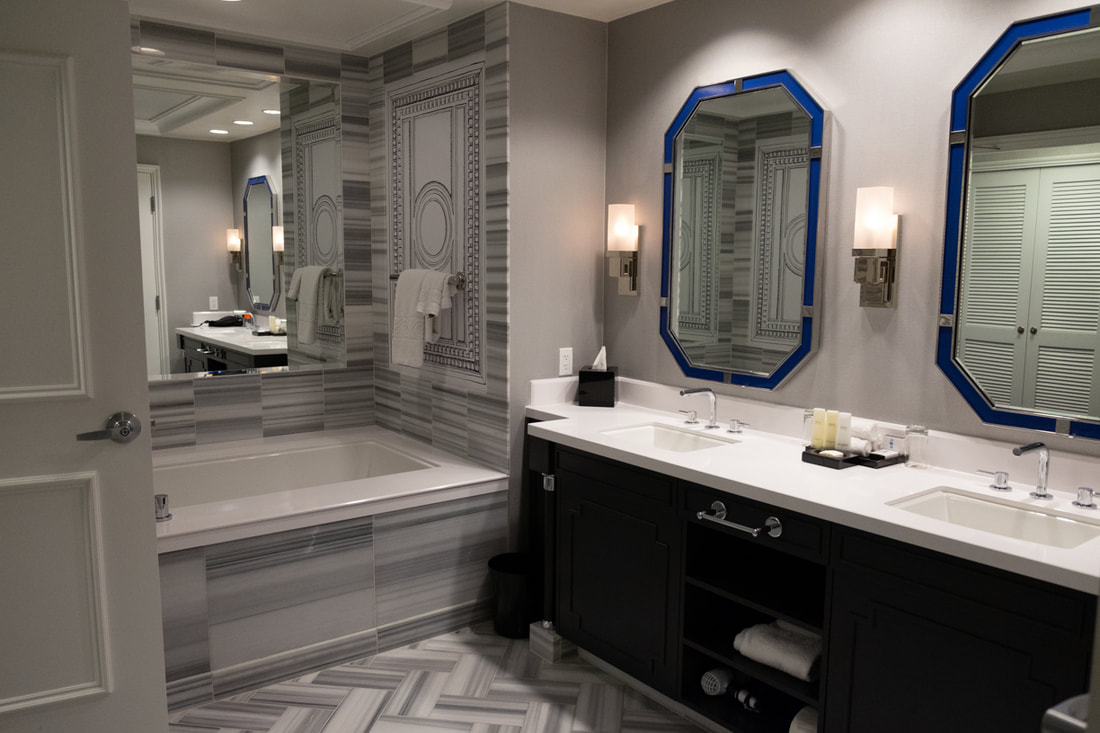 Caesars Palace Premium Room Bathroom
