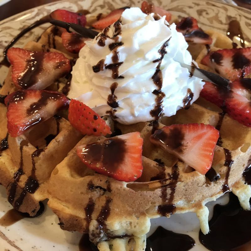 Waffles at Another Broken Egg