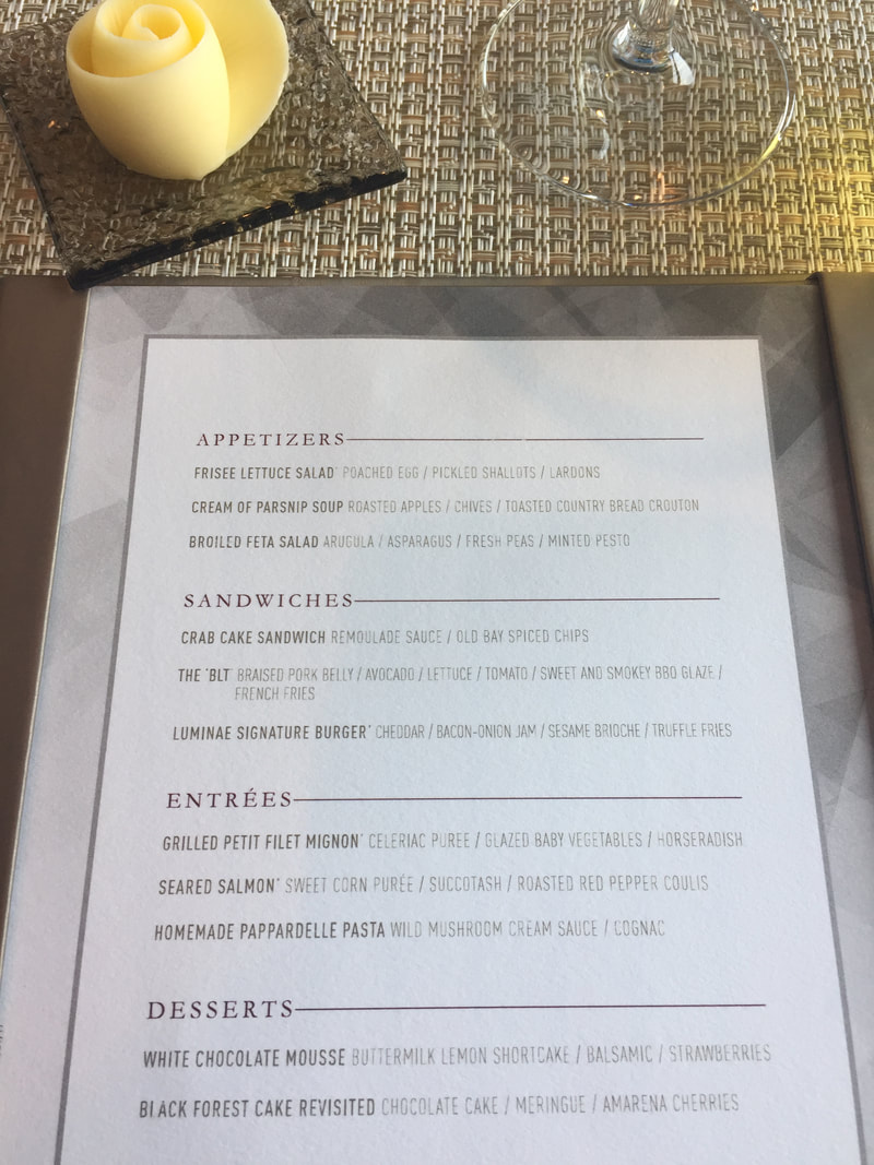 Luminae Lunch Menu