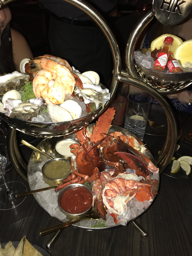 Seafood Tower at Hell's Kitchen in Las Vegas