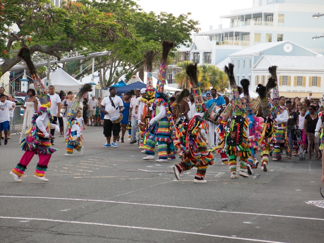 Gombey Dancers at Hamilton Nights in Bermuda