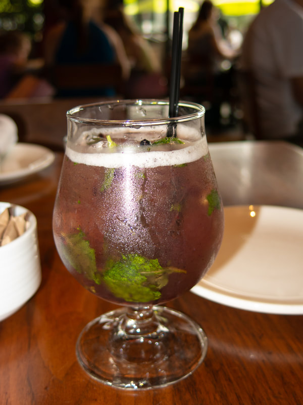 Blackberry Mint Julep at Barrel & Bushel in Hyatt Regency Tysons Corner Center