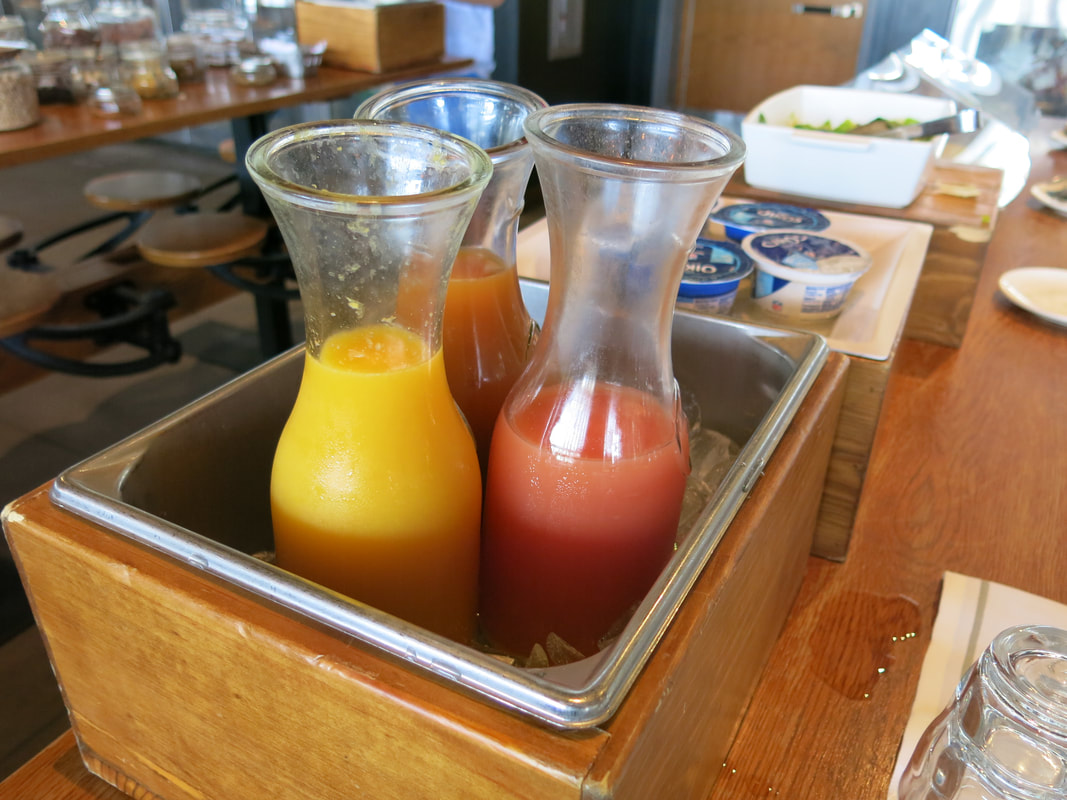 Juices on Breakfast Buffet at Barrel & Bushel in Hyatt Regency Tysons Corner Center