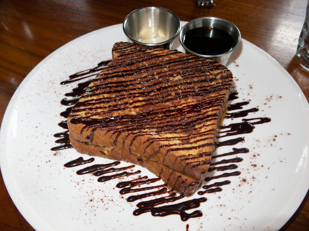 Double Chocolate French Toast at Barrel & Bushel in Hyatt Regency Tysons Corner Center