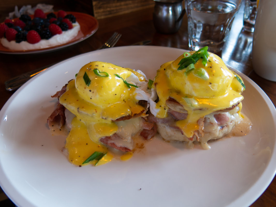 Grilled Cheese Benedict at Barrel & Bushel in Hyatt Regency Tysons Corner Center