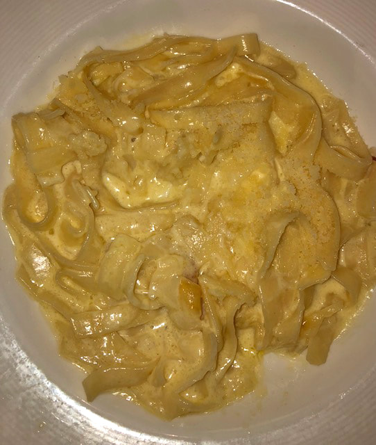 Fettuccine Alfredo on Princess Cruises