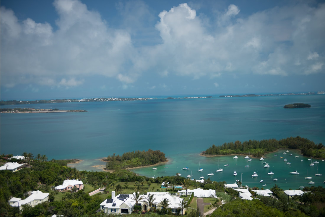 Gorgeous view of a harbor in Bermuda