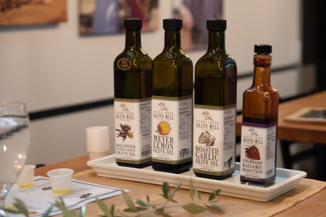 Sampling Olive Oil at Queen Creek Olive Mill