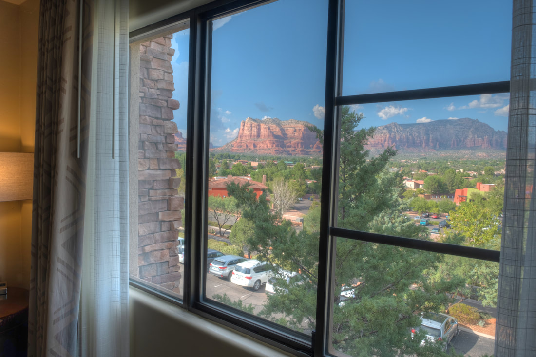 View from window at Hilton Sedona