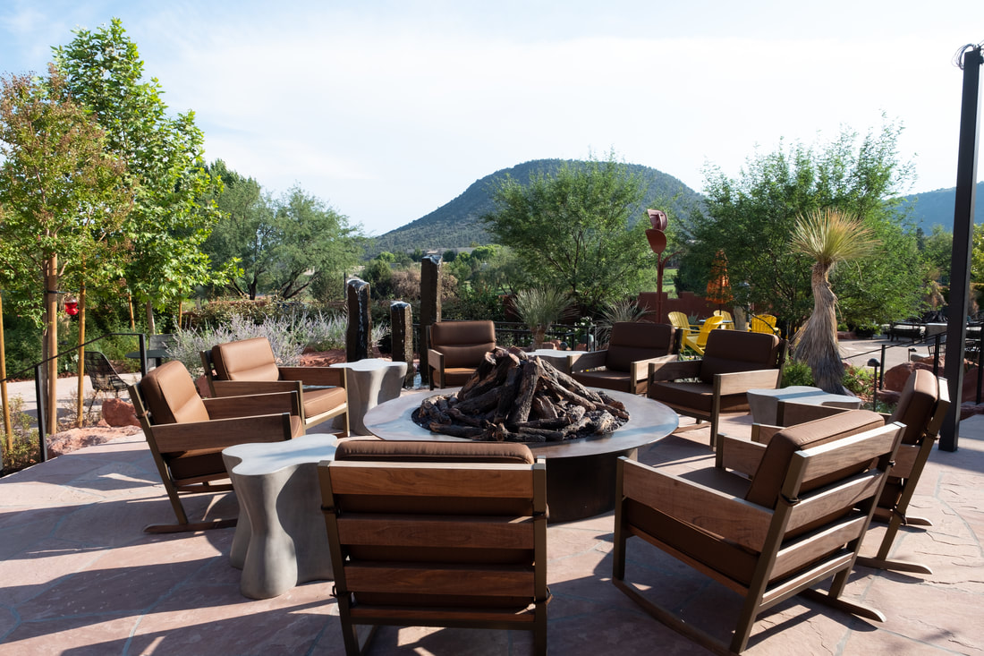 Fire pits and activities at Hilton Sedona