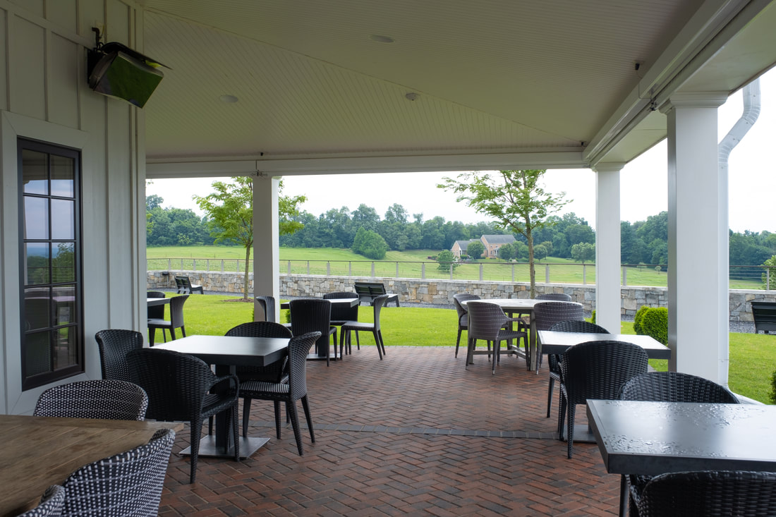 Outdoor patio at Big Cork Winery