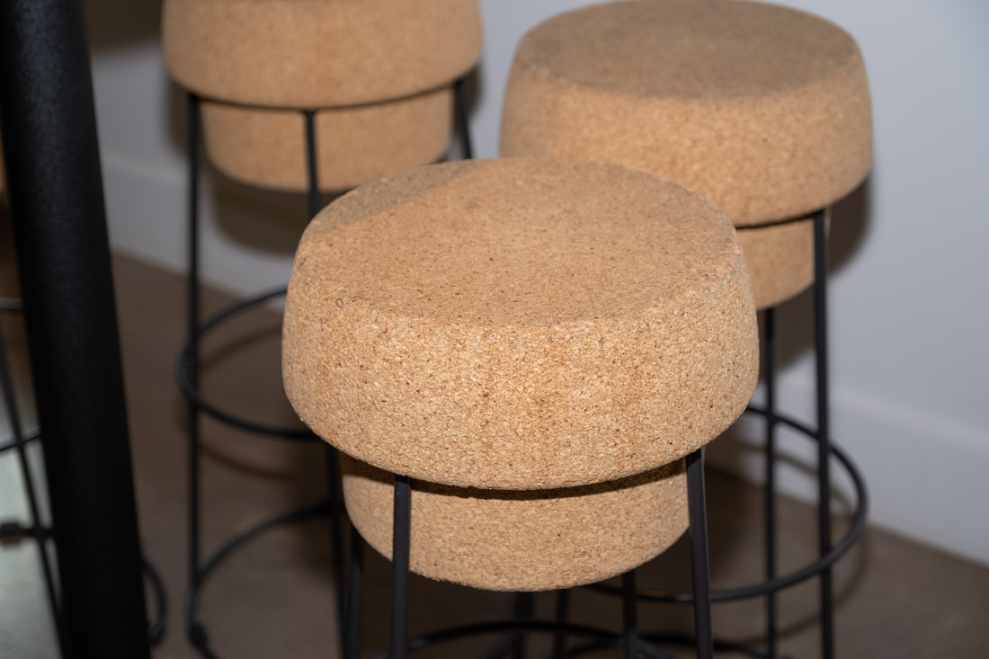 Cork bar stools