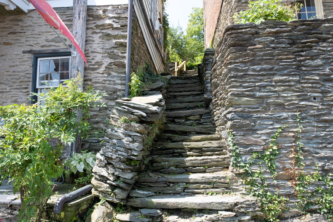 Old stone steps in Harpers Ferry