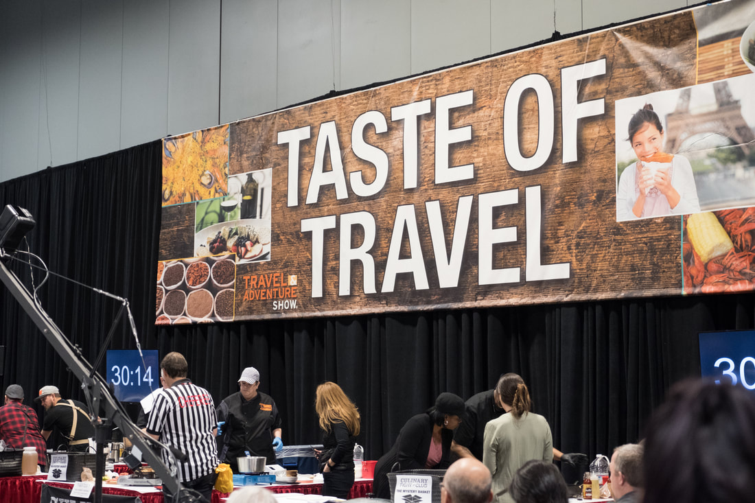 Culinary Fight Club at the Taste of Travel Theater at the Travel and Adventure Show in Washington, D.C.