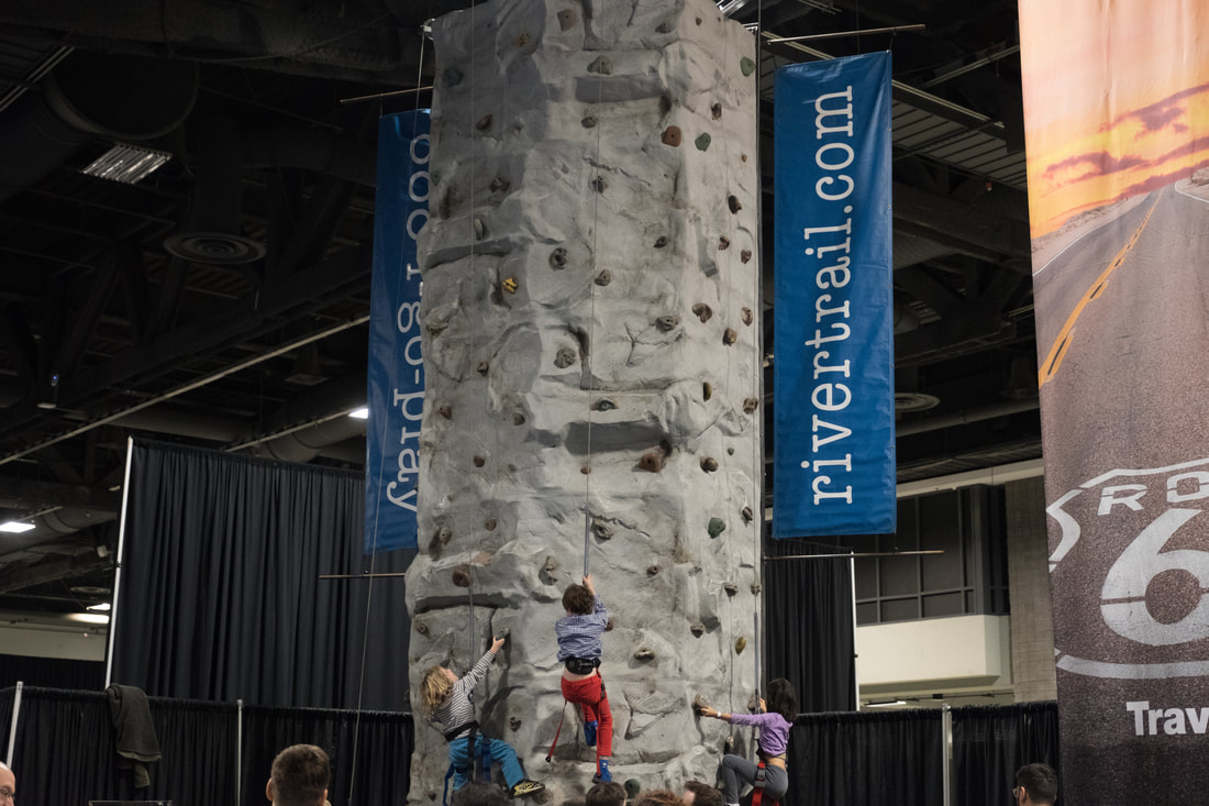 Climb a rock wall Travel and Adventure Show in Washington, D.C.
