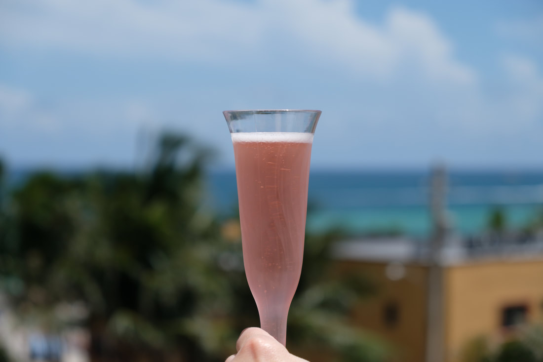 A Welcome Glass of Champagne at Hollywood Beach Marriott
