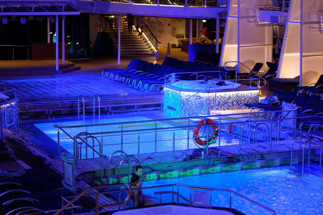 Celebrity Equinox Pool View at Night