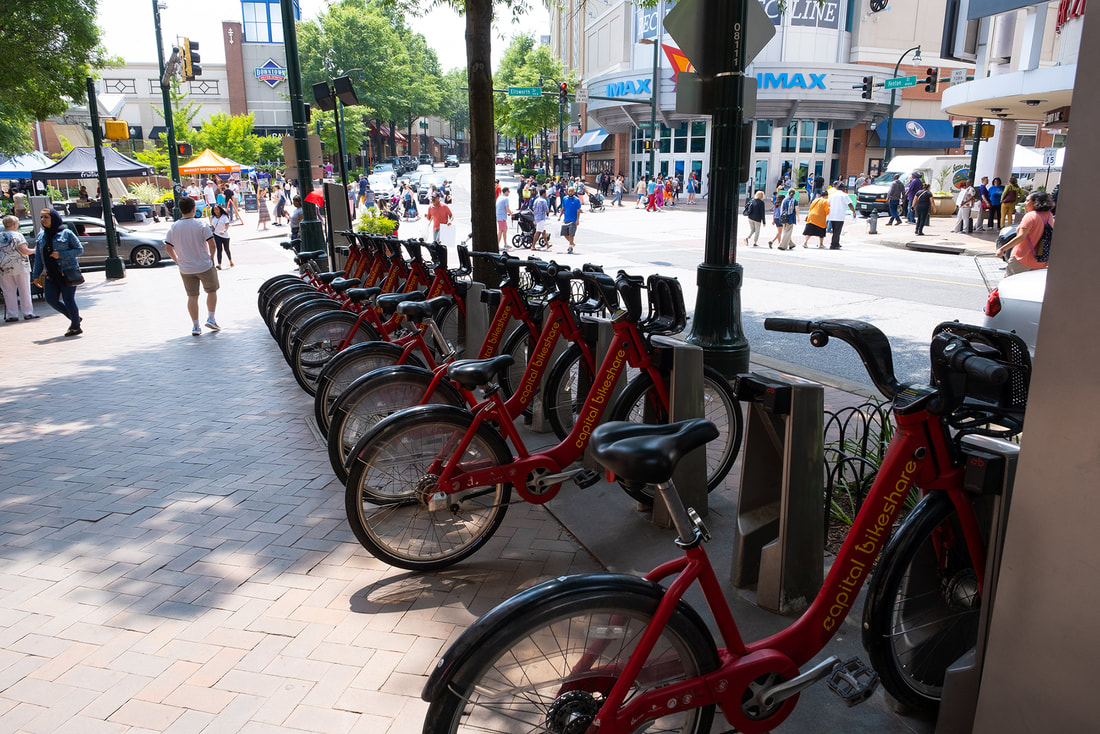 Capital Bikeshare in Silver Spring Maryland