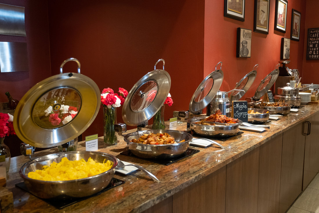 Breakfast buffet at Savor DoubleTree by Hilton in Silver Spring