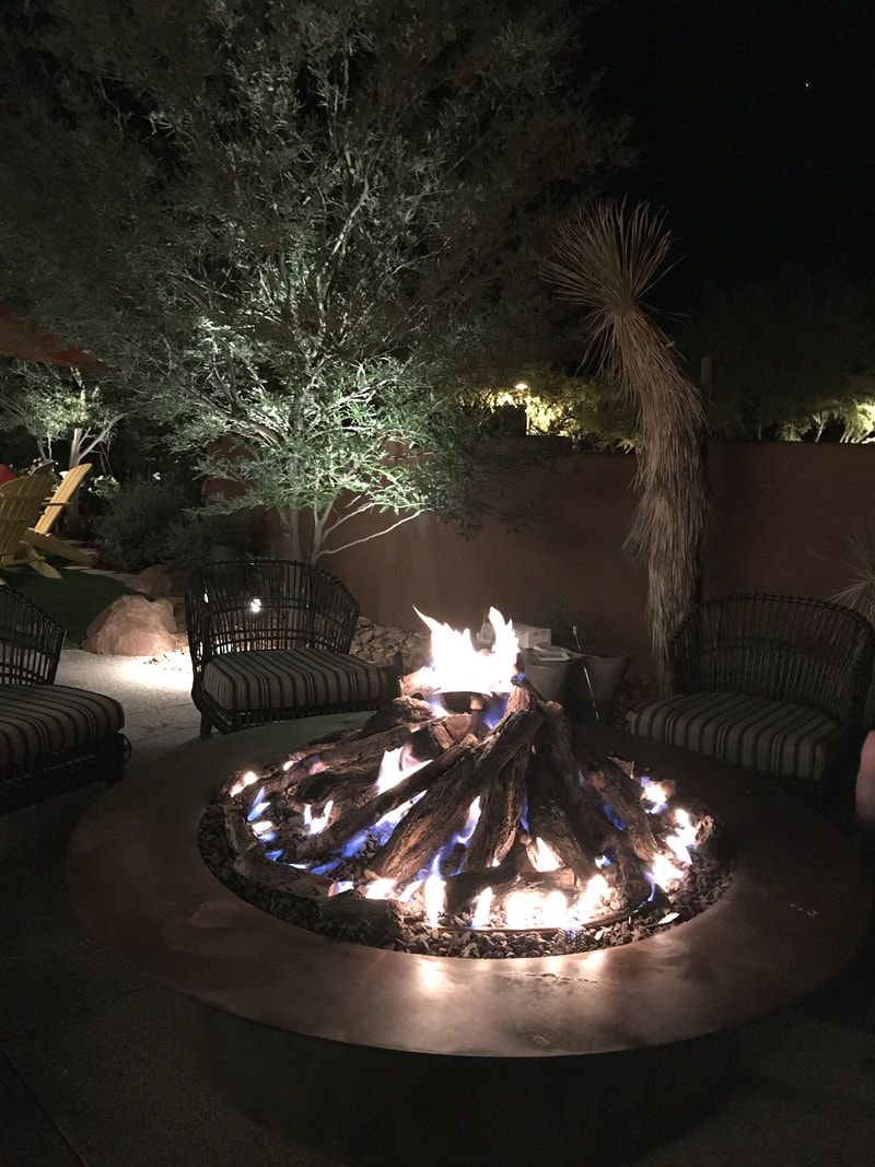 Outside at night for s'mores at Hilton Sedona
