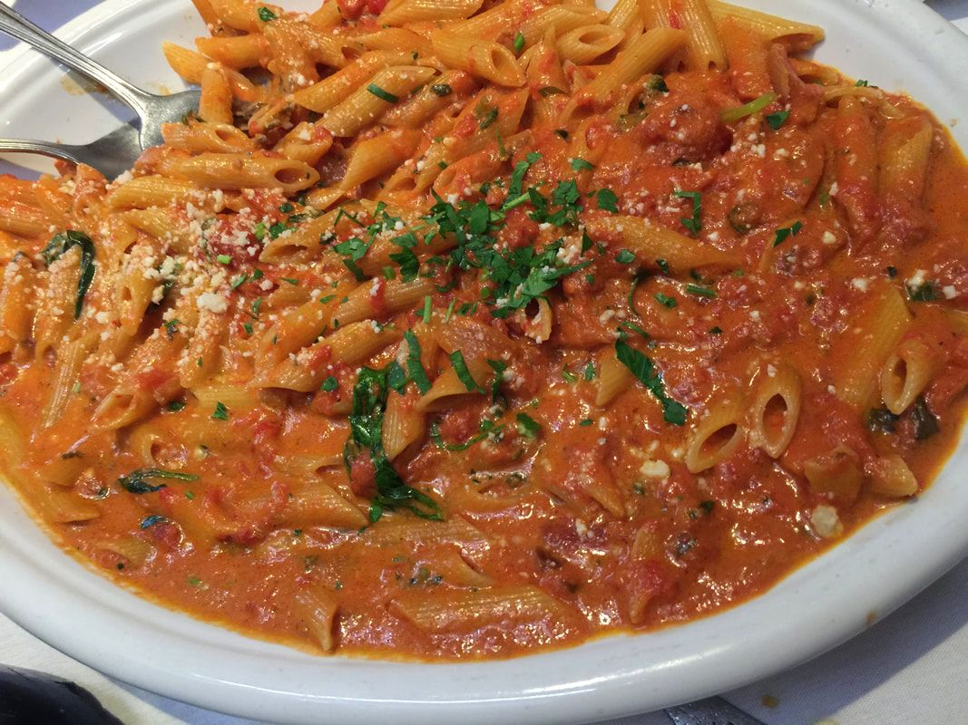 Penne Vodka at Carmine's Italian Restaurant
