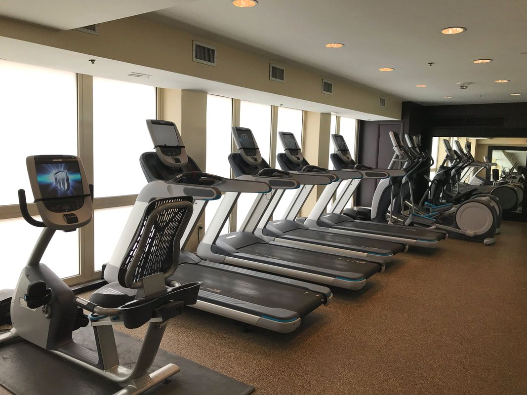 Gym at DoubleTree by Hilton in Silver Spring Maryland