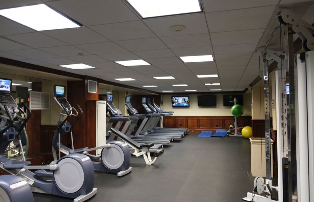 Fitness room at the Hollywood Beach Marriott