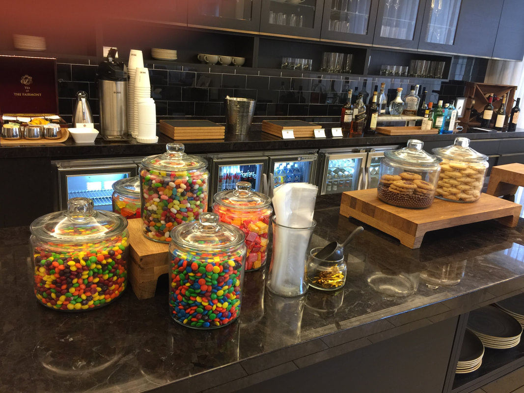 Gold Lounge Candies and Cookies at Fairmont Hotel Washington DC
