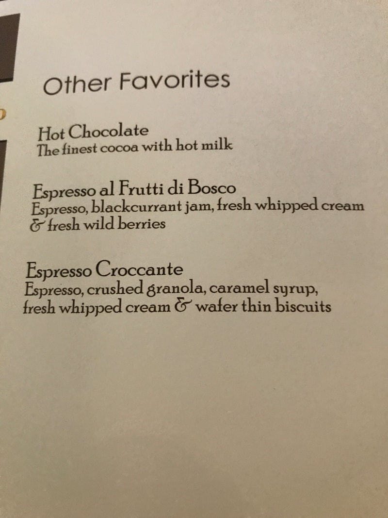 Best drinks from Cafe al Bacio on Celebrity Cruises
