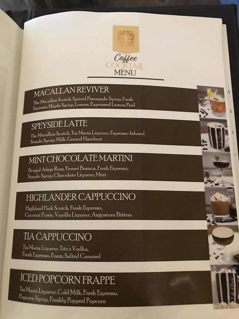 Special Cafe al Bacio Menu on Celebrity Cruises