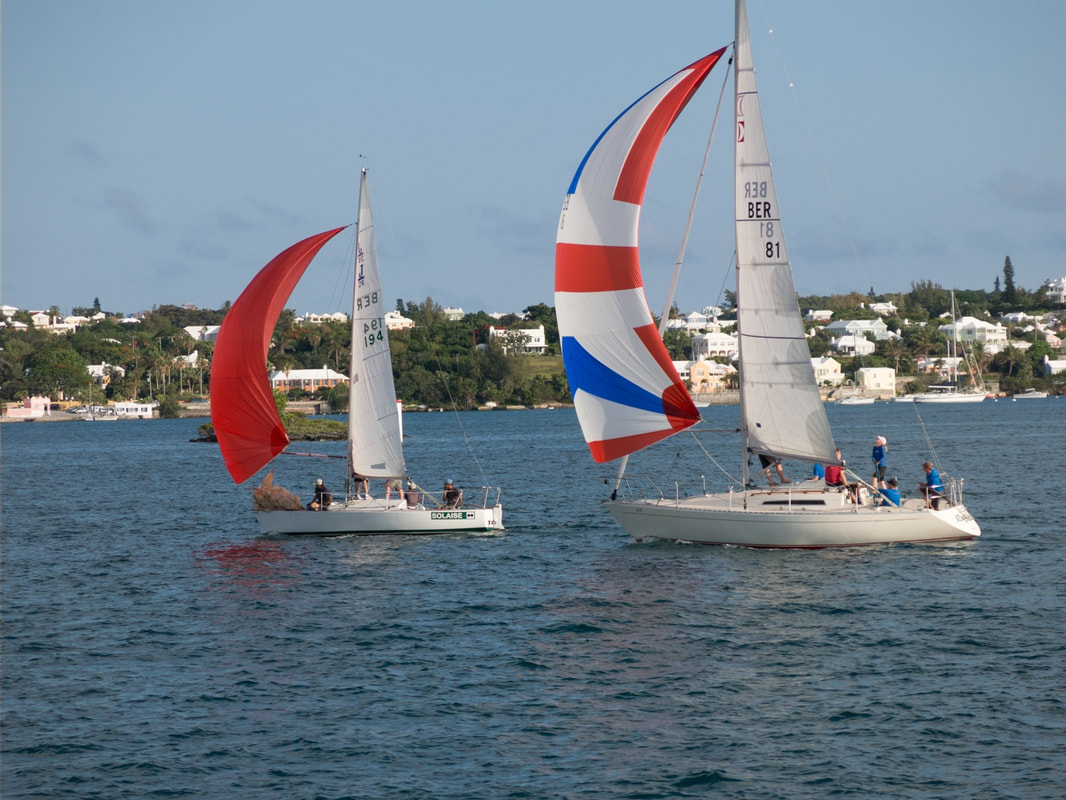 Sailing is a popular water sport in Bermuda.