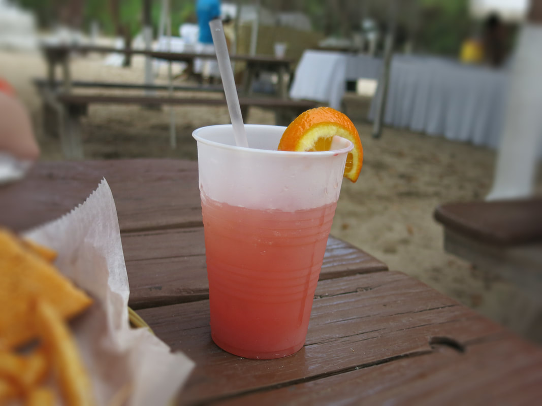 Tiki Beach Grand Cayman menu
