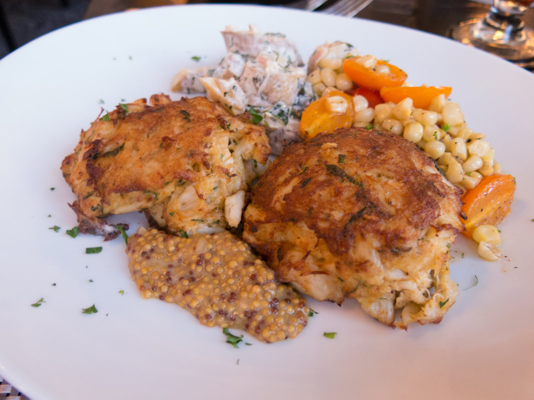 Crabcakes at Lord Baltimore Hotel