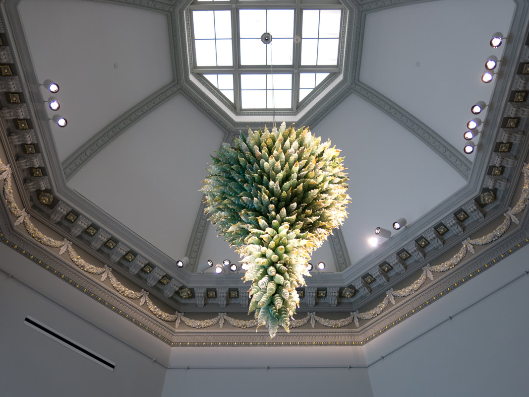 Chihuly chandelier at Renwick Gallery