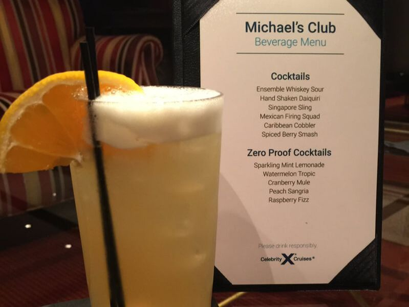 Celebrity Cruises Michael's Club Beverage Menu